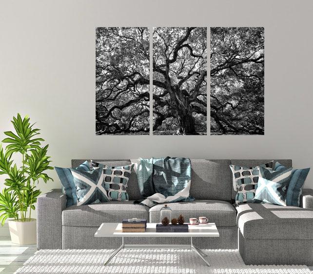 Angel Oak Tree Charleston SC Triptych 3 Piece Wall Set Multi | Etsy