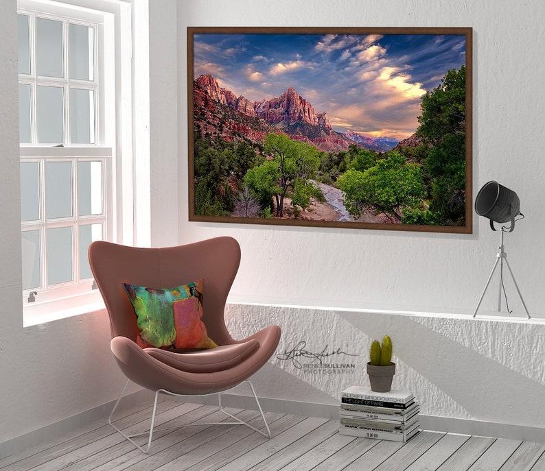Zion National ParkUtahSouthwest LandscapeFine Art PhotoRed RockNature PhotographyOversized Wall DecorReady to Hang Metal CanvasPaper