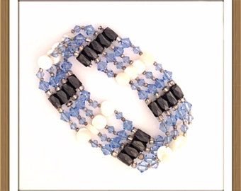 Handmade MWL magnetic bracelet /necklace with the look and feel of indian jewelry. 0235