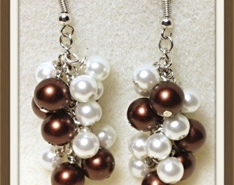 MWL Handmade dangle pearl earrings