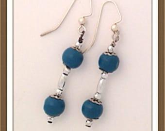 Handmade MWL wooden beaded earrings. 0090