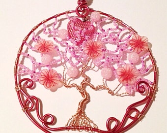 Handmade MWL Copper and pink tree.0404