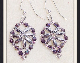 Purple bling earrings