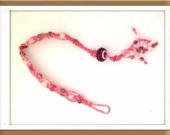 Bracelet Handmade by MWL macrame beaded bracelet. 0199