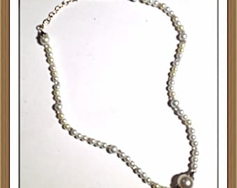 Handmade MWL pearl necklace. 0120
