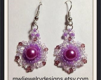 MWL Beautiful Purple earrings