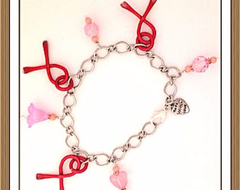 Bracelet by MWL cancer awareness bracelet handmade 0171