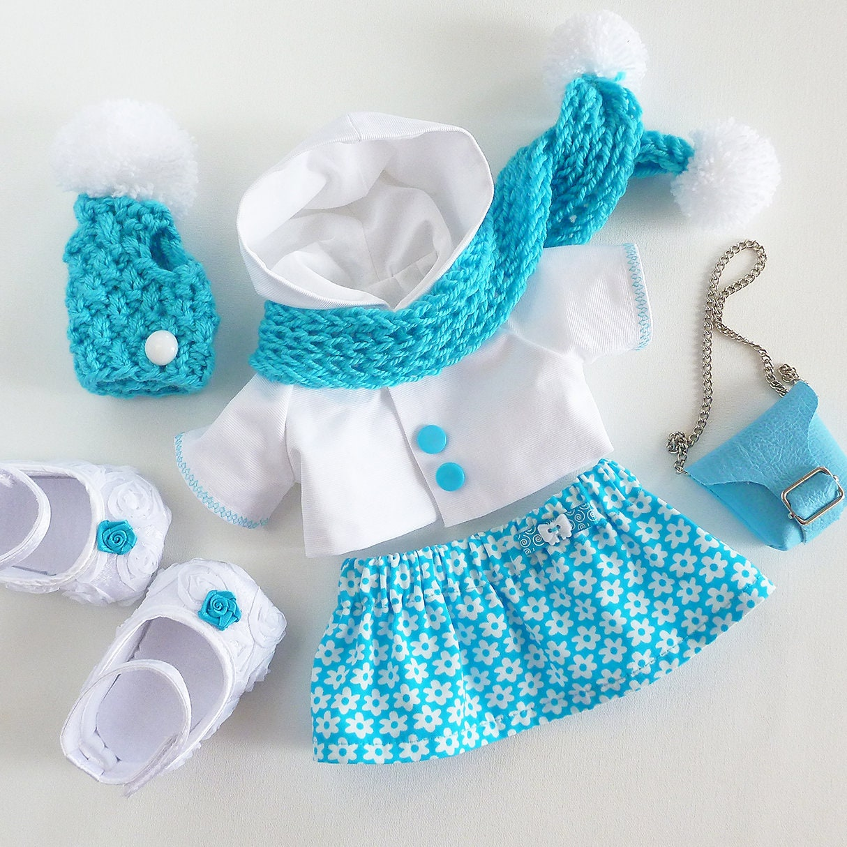 clothes fits for toys ZuzuHappyToys Extra set of clothes for girl doll 14.5