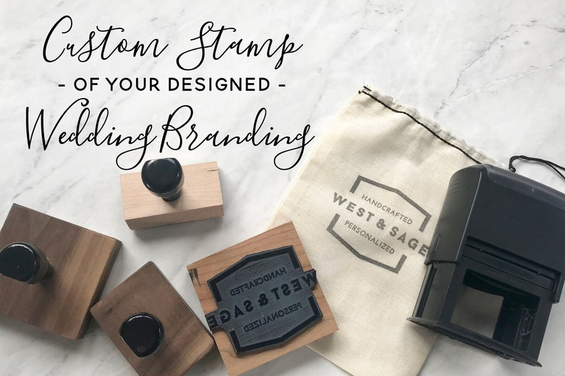 Custom Wedding Stamp Invitation Logo