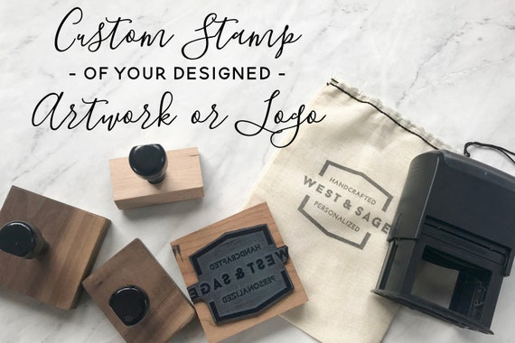 Custom logo stamp business card stamp logo rubber stamp etsy image 0 colourmoves