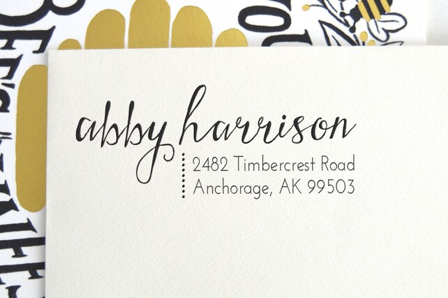 Calligraphy Custom Address Stamp
