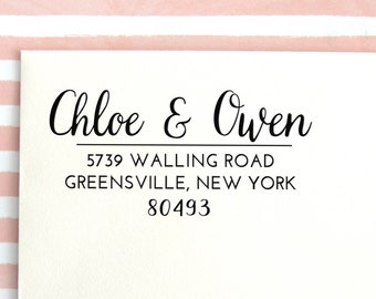 Return Address Stamp | Address Stamp | Personalized Stamp | Save the Date Stamp | Custom Rubber Stamp | Custom Address Stamp, No. 27