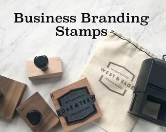 Business Branding Stamp | Custom Logo Stamp | Logo Rubber Stamp | Custom Rubber Stamp | Custom Design Stamp | Wood Block | Self Inking Stamp
