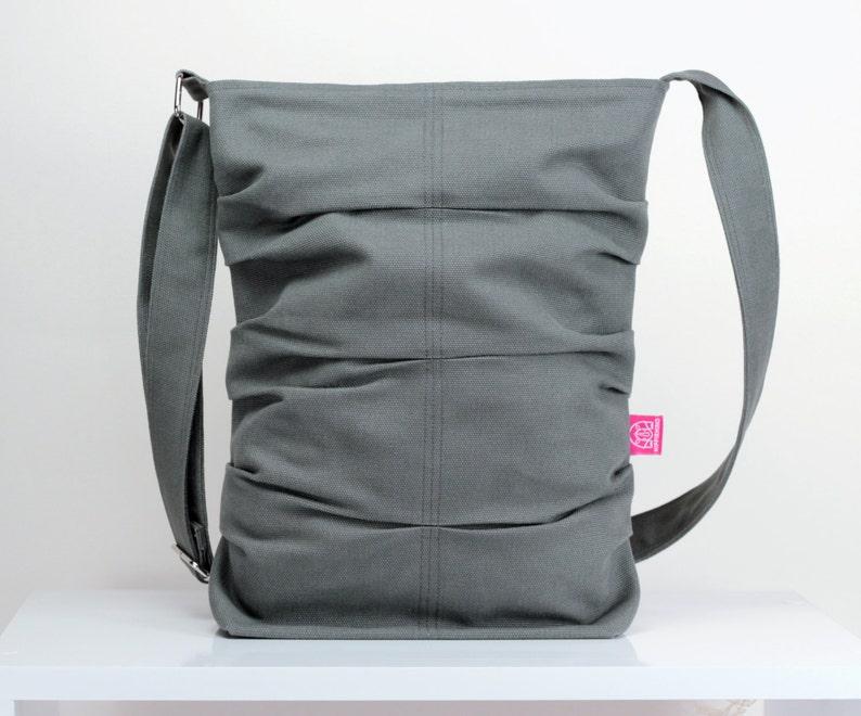 25b292952a Gray Bag Unique Washable Tote Bag Daily Use Handmade Small Bag
