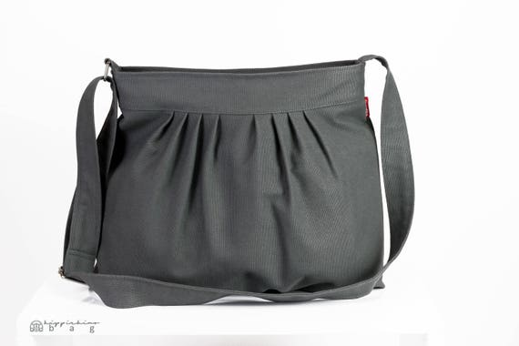 c737399e11c Gray Bag Canvas Purse Pleated Bag For Women Gift Daily Use   Etsy