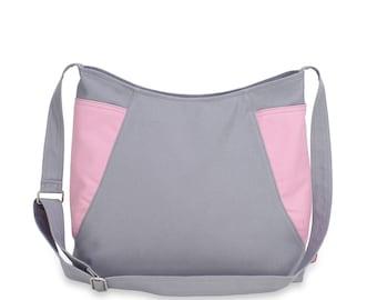 Hobo Bag Shoulder Crossbody Handmade Cotton Canvas Vegan Washable Zippered Traveler Classy Roomy Weekender Two Side Pockets Colors Stylish