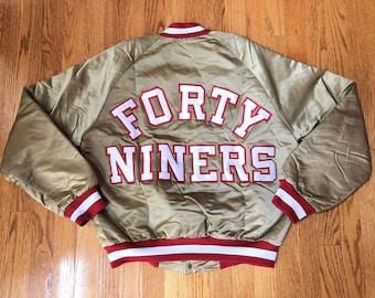 huge discount 66cec 664a4 Gold 49ers jacket   Etsy
