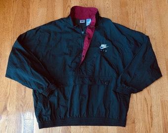ff0c86043459a7 Vintage 1990s NIKE AIR Windbreaker 1 2 Zip Pullover Jacket Mens XL w  Front  Pouch    tracksuit 90s hip hop rap air max jordan swoosh logo
