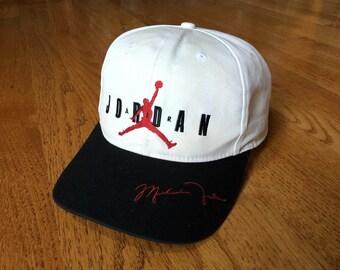 f94ac877dbb8f9 RARE Vintage 1990s Nike Air Michael Jordan Restaurant Exclusive Signature  Snapback Hat // chicago bulls scottie pippen dennis rodman jersey