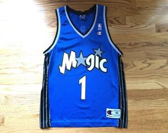 b929b18ea29 Vintage Tracy Mcgrady Orlando Magic NBA Champion Jersey size 40 // toronto  raptors houston rockets Tmac shoes shaquille oneal penny hardaway