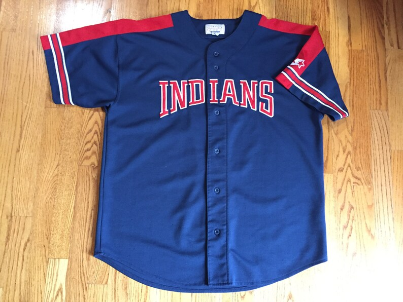 buy online 267a9 7f866 Vtg 90s Starter Cleveland Indians Stitch Baseball jersey #7 2XL Kenny  Lofton // cavaliers browns lebron james jacket world series champion