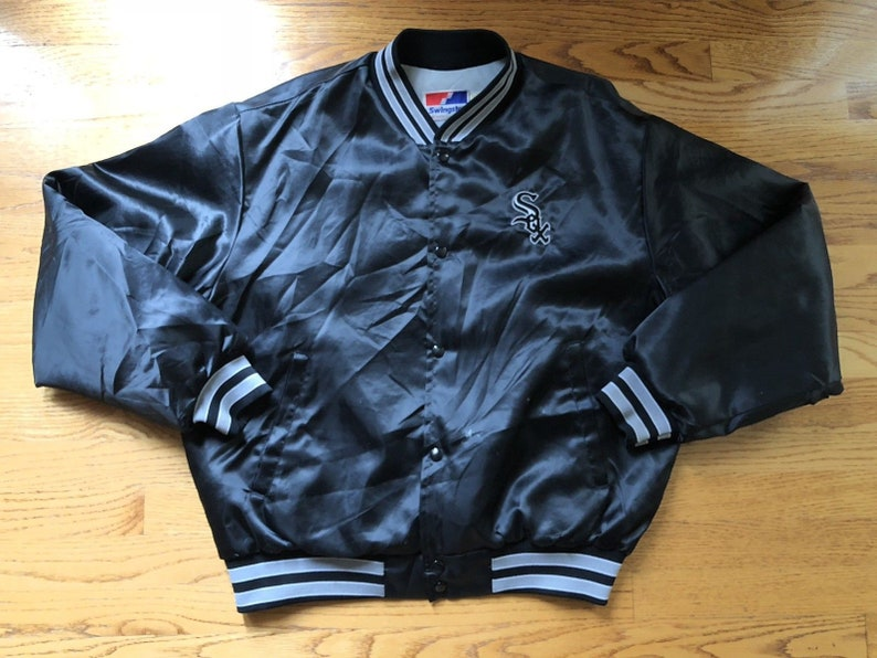 63e499c87776 Vintage 80s 90s Chicago White Sox Swingster Satin Jacket sz XL   Pre-owned  Cond ... Vintage 80s 90s Chicago White Sox Swingster Satin Jacket sz XL ...