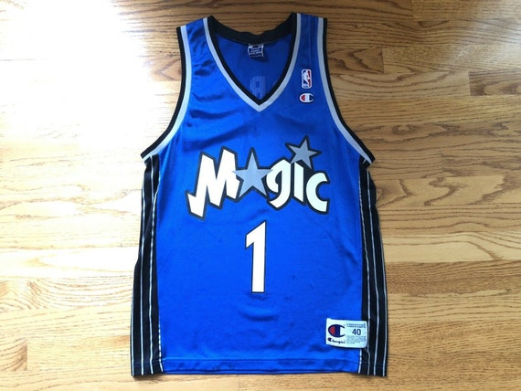wholesale dealer b3f22 0b7a3 Vintage Tracy Mcgrady Orlando Magic NBA Champion Jersey size 40 // toronto  raptors houston rockets Tmac shoes shaquille oneal penny hardaway