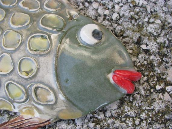 Ceramic Fishtropical Fishpottery Fishfish Artclay Fish Etsy