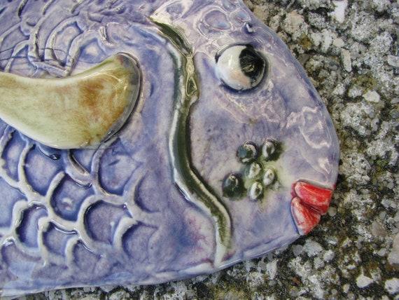 Ceramic Fishtropical Fishtropical Decor Colorful Wall Etsy