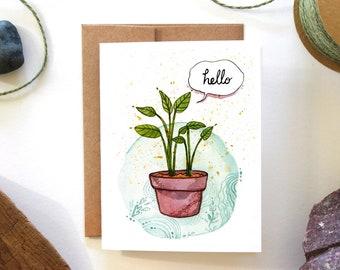Hello! - Watercolor Greeting Card