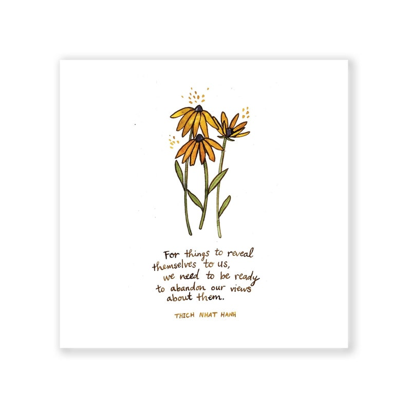 Reveal  Thich Nhat Hanh  Archival Watercolor Art Print  6 x image 0