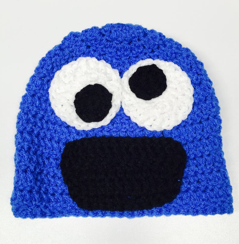 81ef19d89 Cookie Monster Inspired Hat - Sesame Street Inspired Hat - Handmade Hat -  Character Hat - Costume Hat - Winter Hat - Crochet Hat