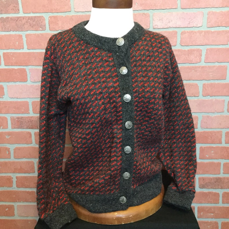 L L Bean womens cardigan sweater size medium Worsted Wool image 0