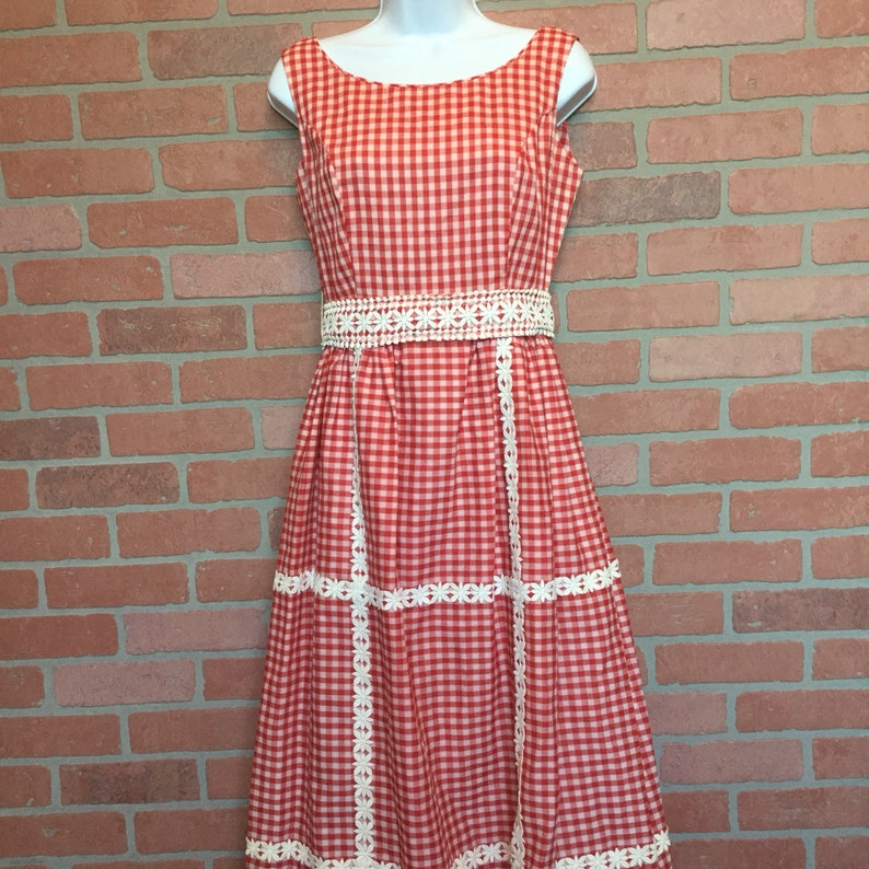 Vintage 50s 60s dress from Midge Grant size 10 long sleeveless image 0