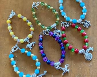 Disney Bracelet, Moana, Aladdin, Lion King, Cinderella, Tinker Bell, Frozen, Little Mermaid - FREE SHIPPING AUS