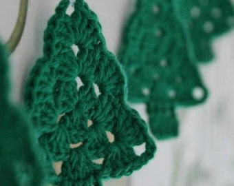 Crochet Christmas Tree Accessory Decoration, 40 x 8cm, Various Colours, Free Shipping