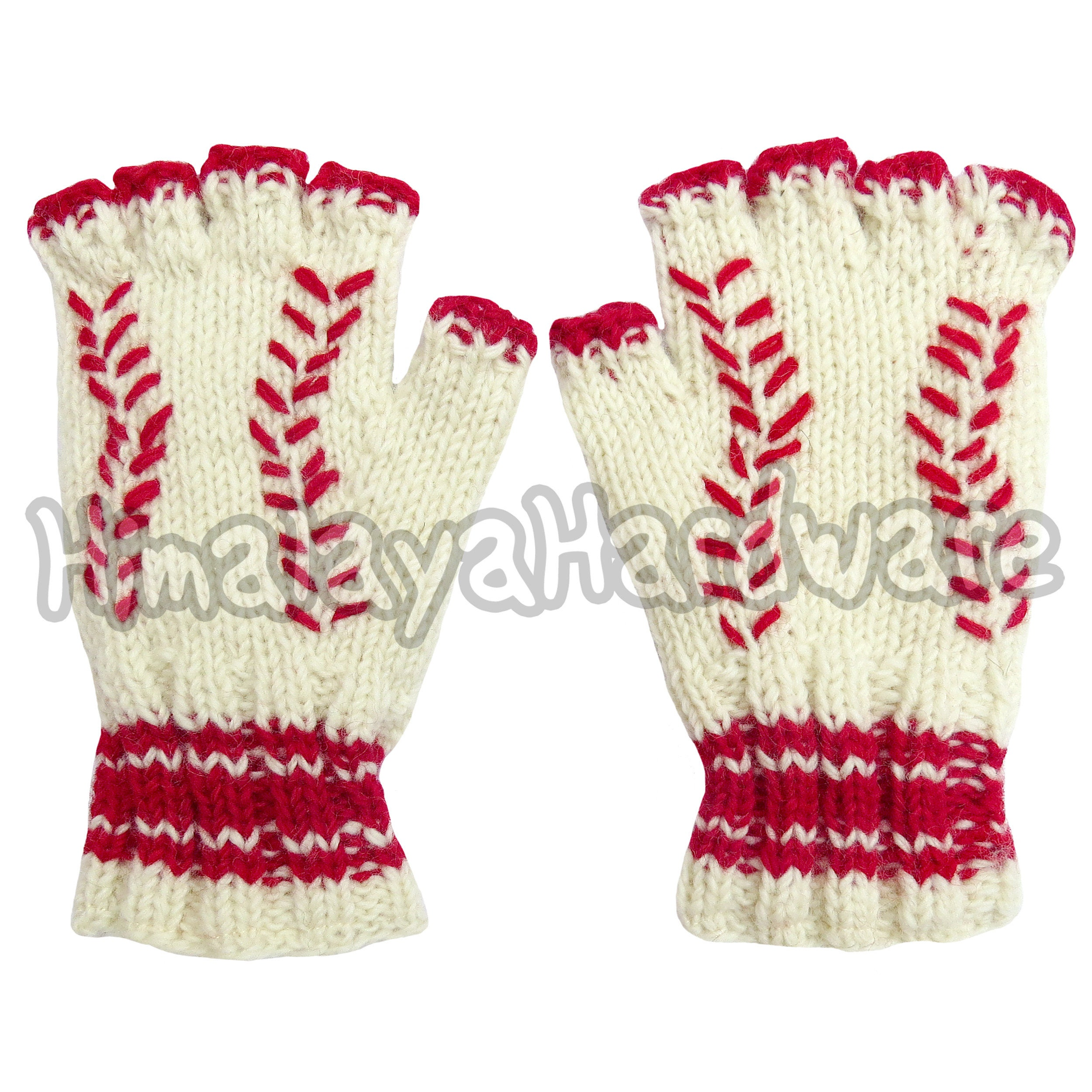 Tejer lana guantes de béisbol: mano calentadores guantes geek | Etsy
