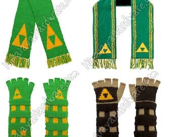 Leyenda de Zelda guantes y bufanda