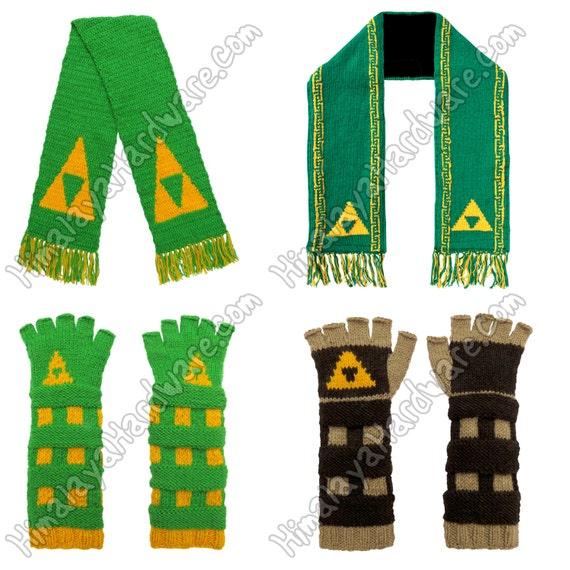 Leyenda de Zelda guantes y bufanda | Etsy