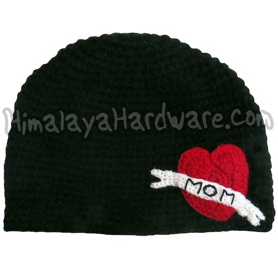 87b2b8b00a5ed Crochet Wool Mom Tattoo Hat