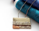 Miniatures, seaside town, houses pendant, sterling silver, unique, Handmade, jewellery, houses in a row, art, wearable art, seashore picture