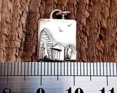 Beach hut charm, sterling silver, cute, beach, beach huts, summer jewellery, whimsical beach huts, unique jewellery, dainty, feminine.