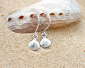 Sterling silver, seaside, shells, seashore, feminine, coastal, small, dainty, charming, handmade, cute, petite, dangle, earrings, gift,