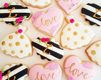 Kate Spade Cookies, Wedding, Bridal