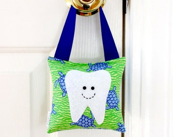 Tooth fairy pillows personalized plaid patriotic