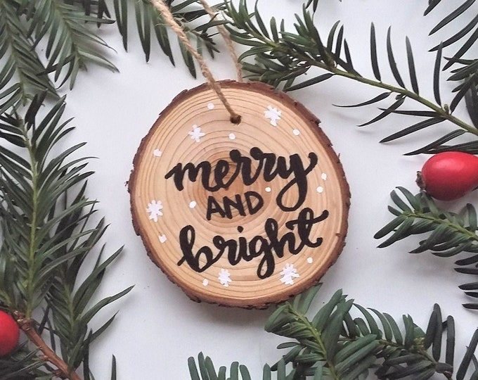 Featured listing image: Christmas Tree Decoration - Merry and Bright