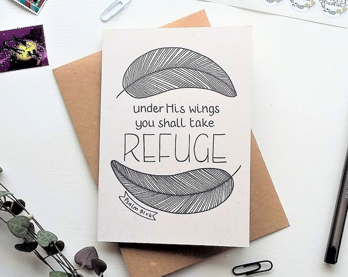 Featured listing image: Psalm 91:4 - Bible 'take refuge' verse