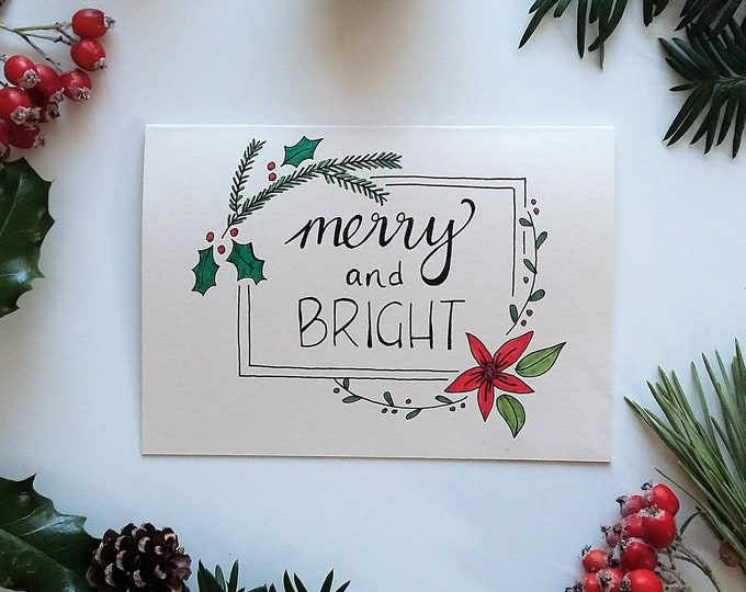 Featured listing image: Merry and Bright Christmas Card