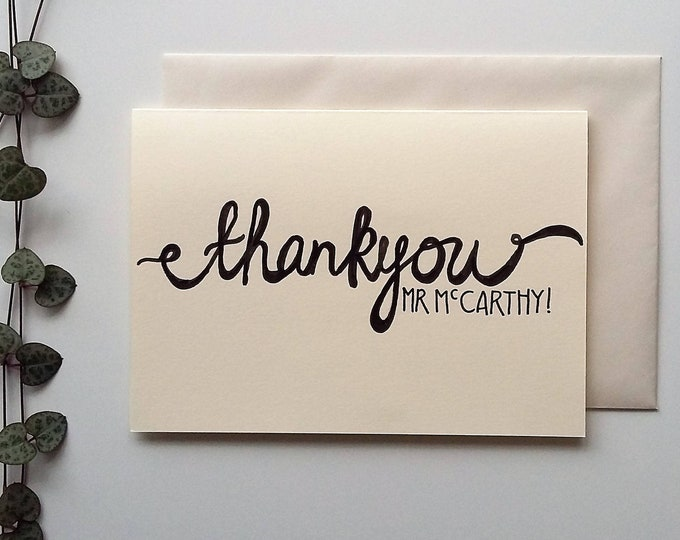 Featured listing image: Personalised Thank you Card