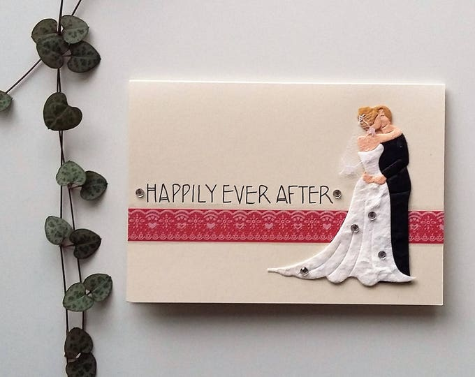 Featured listing image: Wedding congratulations Card - bride and groom